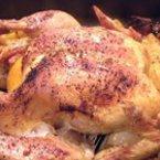 Печено пиле с розмарин и картофи
