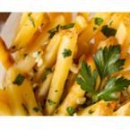 Пържени картофи с чесън и магданоз
