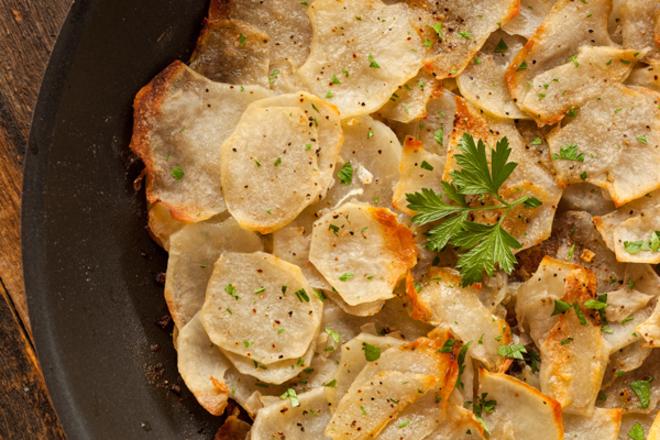 Печен картофен чипс
