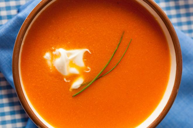 Крем супа от моркови с джинджифил и канела
