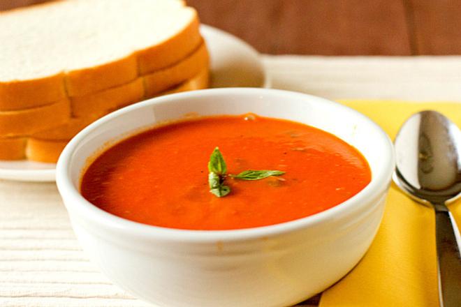 Крем супа от домати с моркови