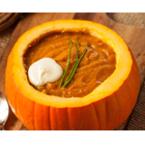 Крем супа от тиква с червен лук