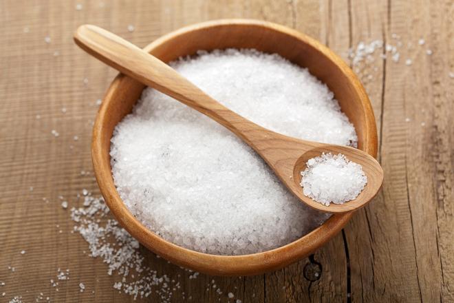 Морска сол вместо ексфолиант