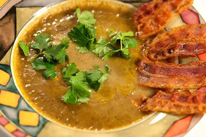 Крем супа от леща с картофи