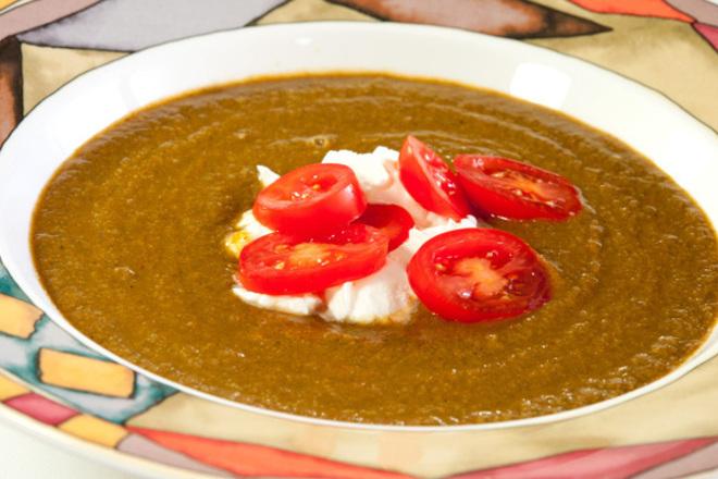 Крем супа от гъби със заквасена сметана