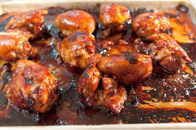 Пилешки крилца с Терияки сос