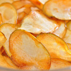 Печен картофен чипс със зехтин