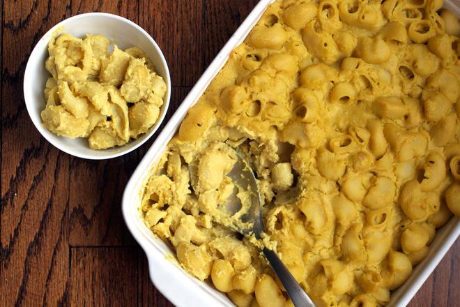Печени макарони със сирене и шафран