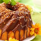 Пандишпанов кекс с шоколадова глазура