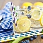 Домашна лимонада с боровинки