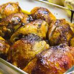 Печено пилешко с ароматни билки