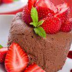 Шоколадов мус с кафе и ягоди