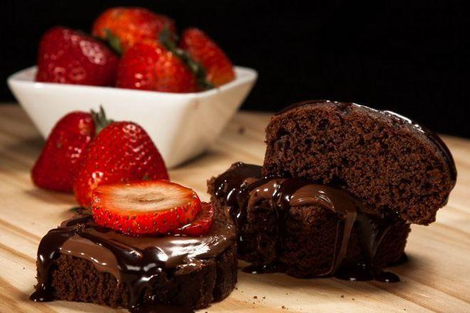 Шоколадов кекс с глазура от течен шоколад
