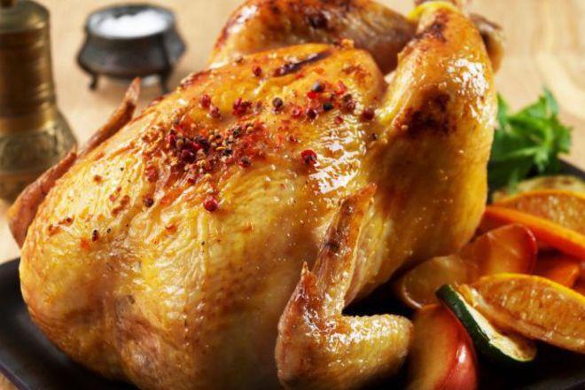 Печено пиле с пипер и цитруси