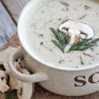 Гъбена крем супа с копър