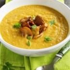 Крем супа от картофи и моркови с гъби