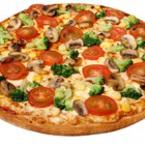 Пица с гъби, царевица и броколи