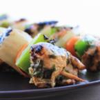 Вкусно у дома с Green Master: Мариновани пилешки шишчета с люти чери чушки и лук