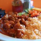 Свински кебап с ориз