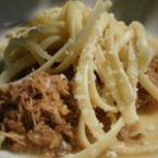Спагети с пилешко месо
