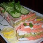 Раирано рибено руло от сьомга и сом( Striped fish terrine with salmon and catfish)
