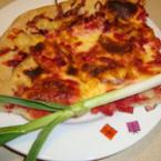 Домашна пица с червено цвекло