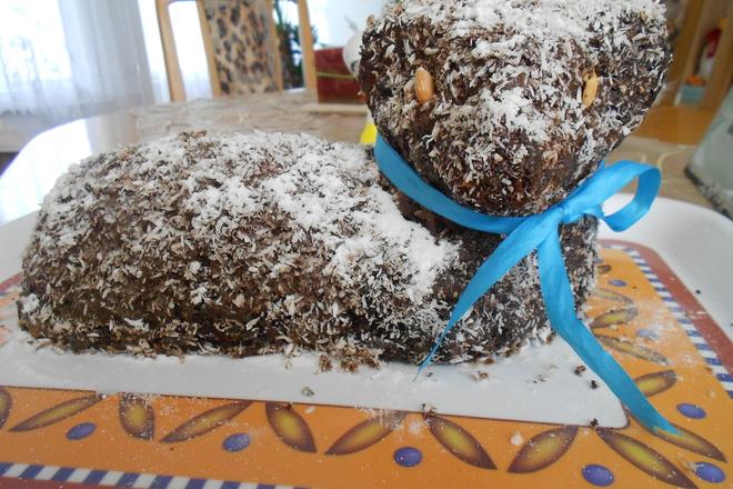 Гергьовденско агне /направено от кексово тесто/