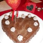"""Бисквитена торта """"сърце"""""""