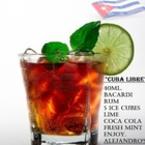 "Koktail ""Cuba Libre"" FB Alejandro's Label"