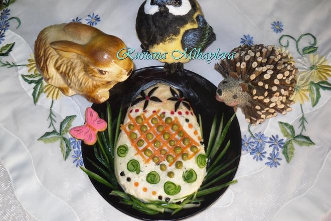 Великденско яйчице от картофено пюре