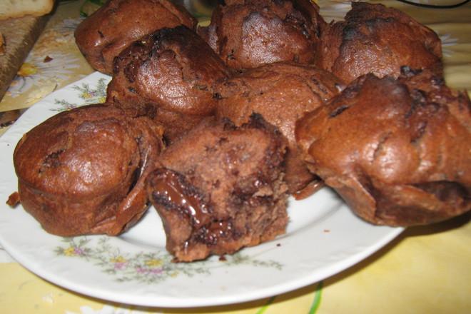 Мъфини с разтопен шоколад