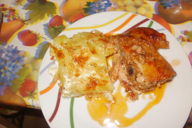 пълнено обезкостено пиле