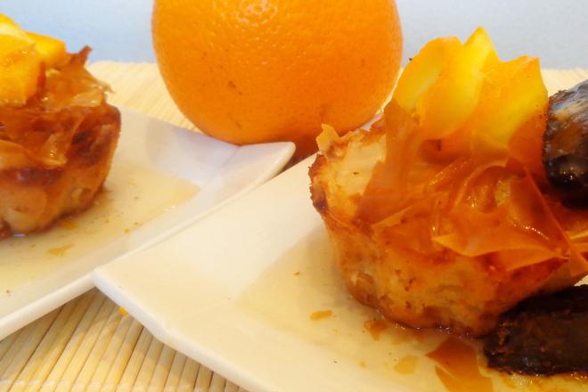 Локумени кошнички с портокалов сироп