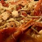 Спагети със сьомга и скариди