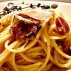 Спагети карбонара със сушени домати
